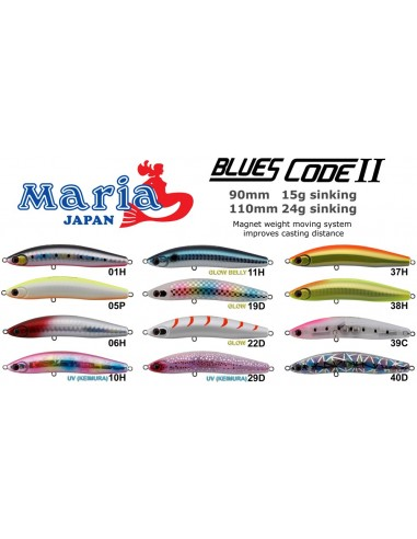MARIA BLUES CODE II 90mm. GR.15 COL. 01H