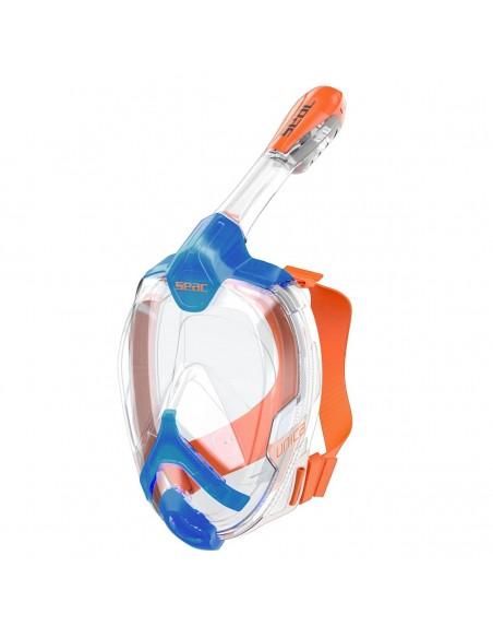 SEAC SUB MASCHERA UNICA GRANFACCIALE blu/arancio tg.l/xl