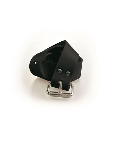 C4 cintura in silicone  nera MARSIGLIESE fibbia inox