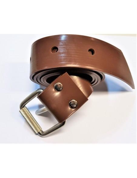 C4 cintura in silicone marron MARSIGLIESE fibbia inox