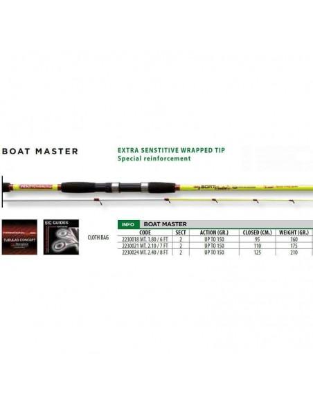 lineaeffe canna bolentino 2 pezzi boat master gr.150