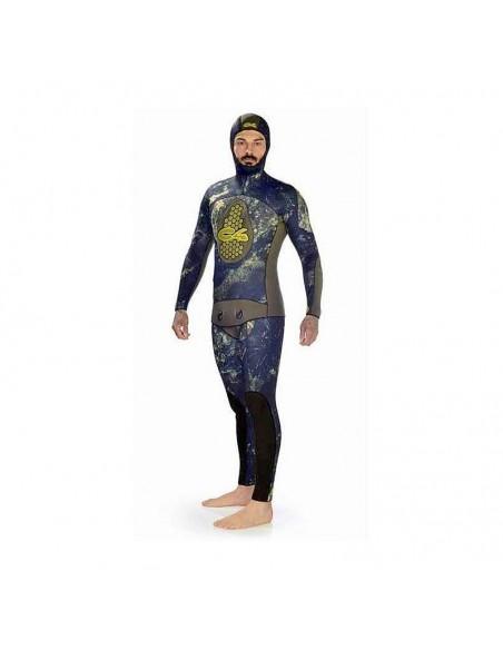 C4 muta sub mimetica extreme camu mm.5.0 completo giacca+pantalone