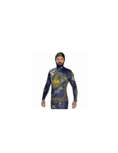 C4 solo giacca di muta sub mimetica extreme camu mm.6.5
