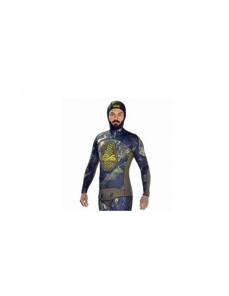 C4 solo giacca di muta sub mimetica extreme camu mm.5.0