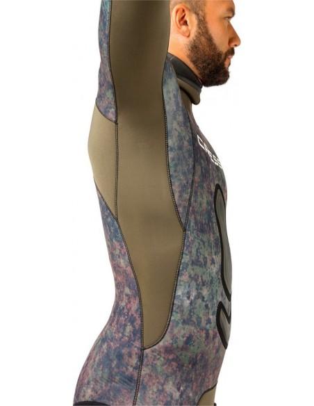 cressi sub giacca muta mimetica in spaccato seppia mm.5