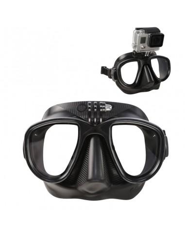 omer sub maschera silicone alien nera con supporto action cam per go-pro