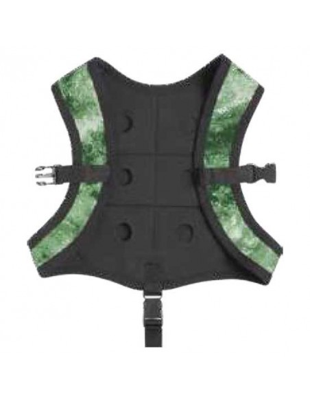 seac sub schienalino mimetico vest caccia camo verde