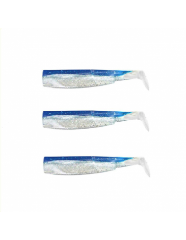 fiish black minnow n.2 coda ricambio cm.9 pz.3 colore bleu cod.011