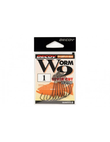 Decoy Worm 9 Upper Cut  ami offset per Il Bass fishing