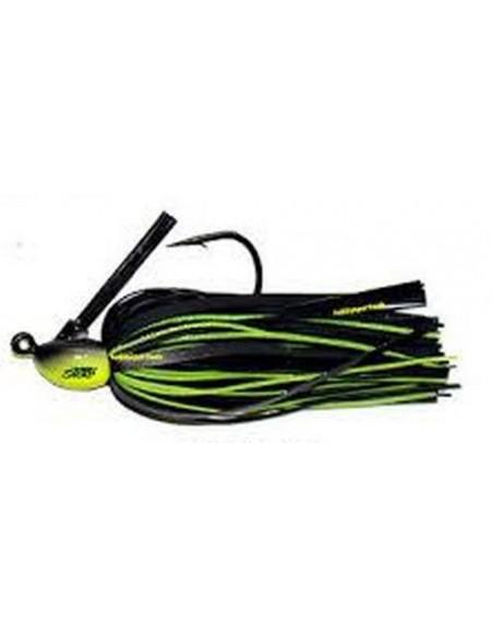 herakles impact jig esca da black bass 3/8 oz. (gr.10) col.black chartreuse