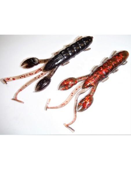 herakles esca da black bass cave craw 3.8 inch. col. black blood