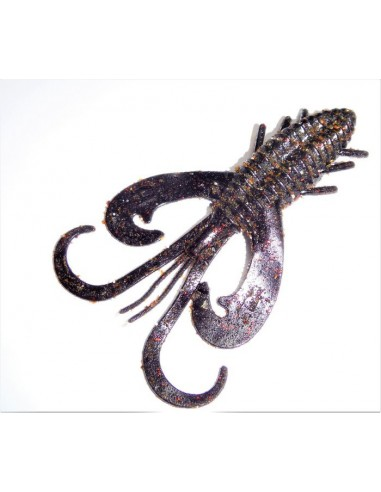 herakles esca da black bass soft baits hypervibe 3.5 inch col.black red flk