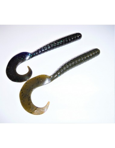 herakles esca da black bass soft bait razor grub 4,5 inch. col. bama bug
