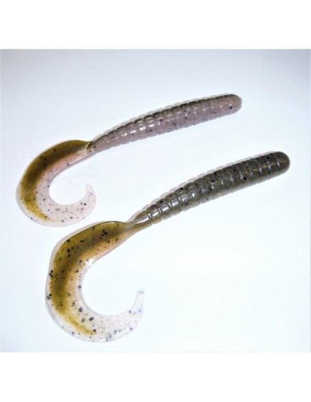 herakles esca da black bass soft bait razor grub 4,5 inch. col. smart green