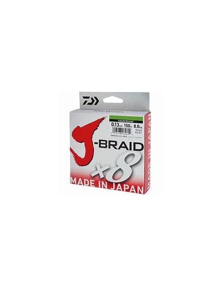 DAIWA TRECCIATO J-BRAID X8 MT.150 (VERDE FLUO')