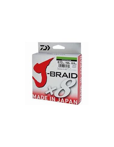 DAIWA TRECCIATO J-BRAID X8 MT.150 DARK GREEN (VERDE SCURO)