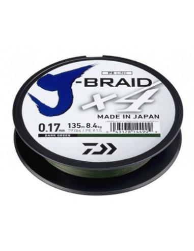 DAIWA TRECCIATO J-BRAID X4 DARK GREEN (VERDE SCURO) MT. 135