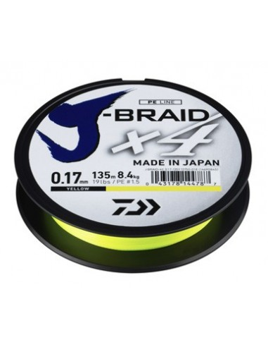 DAIWA TRECCIATO J-BRAID X4 MT. 135 YELLOW (GIALLO)